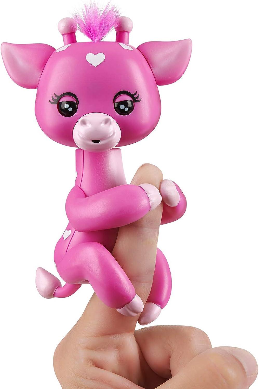 Fingerlings Baby Giraffe  Meadow (Pink)  Friendly Interactive Toy by WowWee