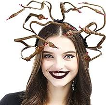 Holibanna Medusa Cosplay Costume Headband Halloween Headdress Dress-up Headpiece for Carnival Mardi Gras Masquerade Party Supplies