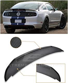 Extreme Online Store Replacement for 2010-2014 Ford Mustang | EOS GT500 Style Carbon Fiber Rear Trunk Lid Wing Spoiler