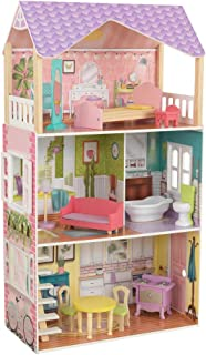 KidKraft 65959 Poppy Wooden Large Dollhouse with 11-Piece Accessories for 12-Inch Dolls