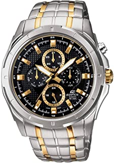 Casio Edifice Men's Black Dial Stainless Steel Band Watch - EF-328SG-1AV