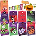 54-Pack Halloween Paper Trick or Treat Bags with 54-Pieces Stickers
