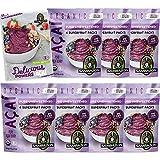 サンバゾンオーガニック 有機JASアサイーフルーツパック アンスウィート(無糖タイプ) 砂糖不使用冷凍 400g(100g × 4袋) × 7袋 公式オリジナルレシピ付き