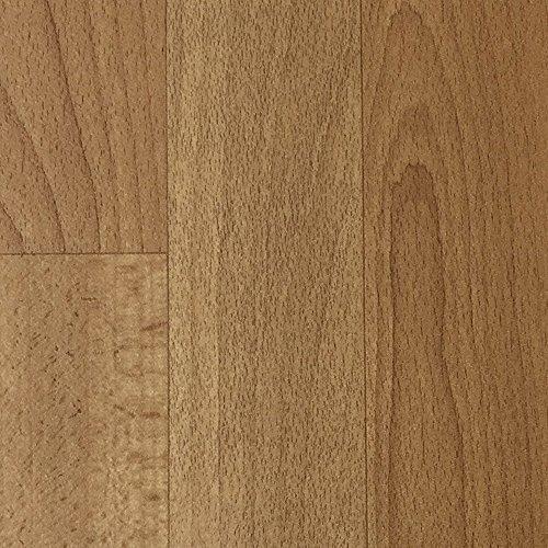 PVC-Boden Holzdielenoptik Hellbraun mit Vliesrücken| Muster | Vinylboden versch. Längen | Fußbodenheizung geeignet | Platten strapazierfähig & pflegeleicht | robuster, rutschhemmender Fußboden-Belag