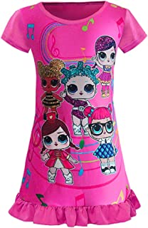 WNQY Surprise Princess Nightgown Little Girls Pajamas Dress for Doll Surprised