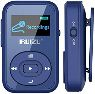 DishyKooker rui/zu X26 8GB Clip Sport Bluetooth MP3 MP4 Music Player OLED Screen Lossless Sound Great Performance Blue
