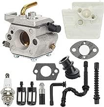 Hayskill MS260 Carburetor WT-194 for Stihl 024 026 MS240 Chainsaws w Air Filter Fuel Oil Line Spark Plug