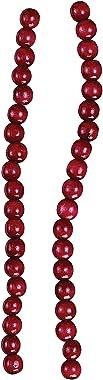 Kurt Adler Red Wooden Cranberry Garland [TN0066/BURG]