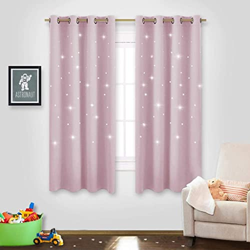 Kids Pink Room Curtains Amazoncom