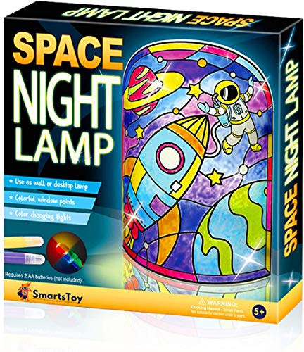 DIY Space Night Lamp Kids Arts and Crafts Kit – Creative Space Toys for Boys and Girls, STEM Crafts for kids Projects - Gift for Boys & Girls Age 6 7 8 9 10 Year Old