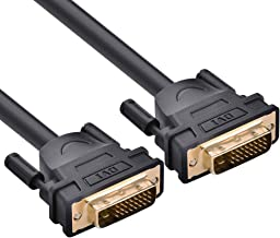 UGREEN DVI-D 24+1 Dual Link Male to Male Digital Video Cable Gold Plated with Ferrite Core Support 2560x1600 for Gaming, DVD, Laptop, HDTV and Projector (6FT)