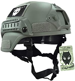 ATAIRSOFT Tactical Airsoft Paintball MICH 2000 Helmet with Side Rail & NVG Mount