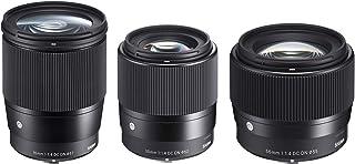$1137 » Sigma Contemporary Lens Bundle Includes Sigma 16mm f/1.4 DC DN - 30mm f/1.4 DC DN - Sigma 56mm f/1.4 DC DN for Canon EF-M ...