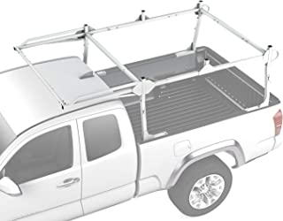 AA-Racks X209 Series Heavy-duty Truck Rack Sqaure Bar Rack w/ Side-bars and Short Over-cab. White