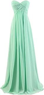 Ouman Sweetheart Bridesmaid Chiffon Prom Dress Long Evening Gown