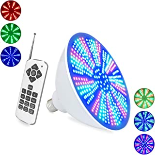 36W RGB LED Pool Light Bulb, 120V Color Changing LED Swimming Pool Light Bulb, Replacement for Pentair Hayward Light Fixture, Color Memory, Remote Control and Switch Control