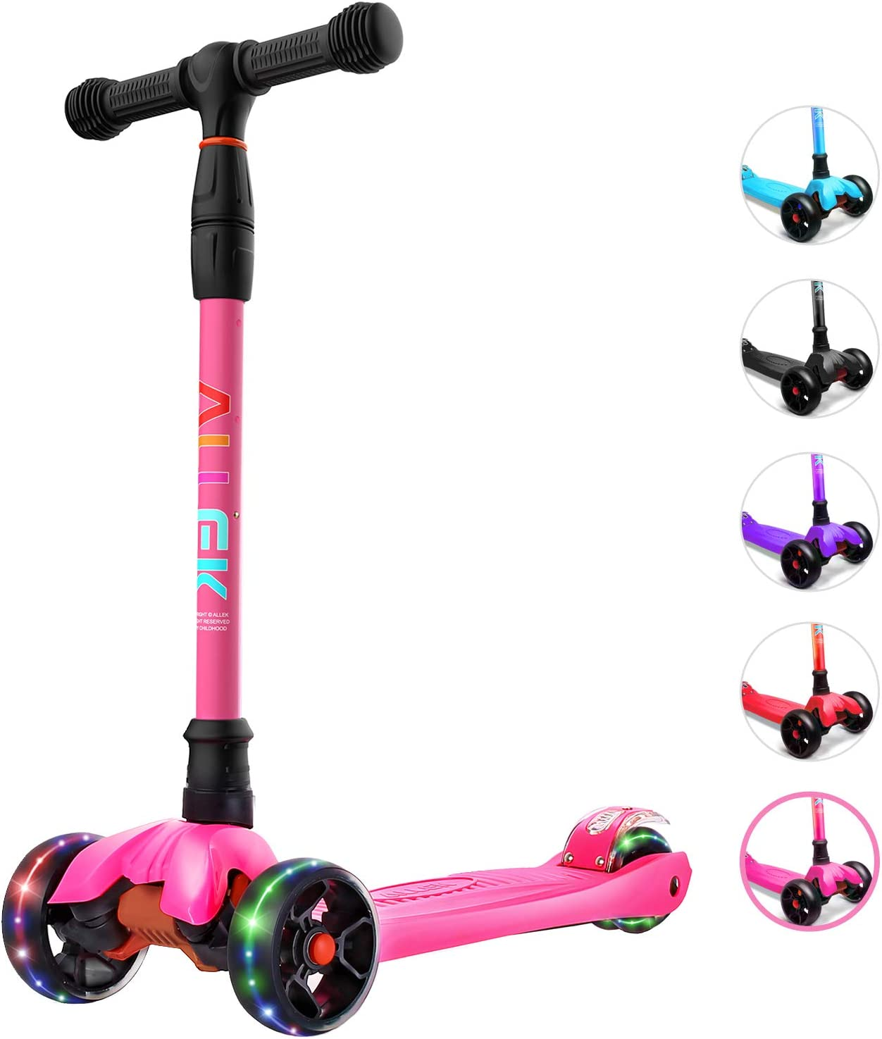 Allek Kick Scooter B02 Lean 'N with PU Extra Wide Baltimore Mall Low price Glide