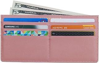 Women's Soft Leather Credit Card Slim Wallet Zipper Pocket Purse for Clutch Bag Indi Pink