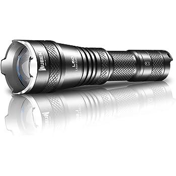 WUBEN L60 Wiederaufladbare LED Taschenlampe, Ultra Powerful Military Tactical Taschenlampe 1200 Lumen CREE XP-L2 LED, 5 Modi Zoombare Wasserdichte Taschenlampe Für Camping, Wandern