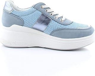 Luxury Fashion | Igi & Co Women 5166811BLU Light Blue Faux Leather Sneakers | Spring-summer 20