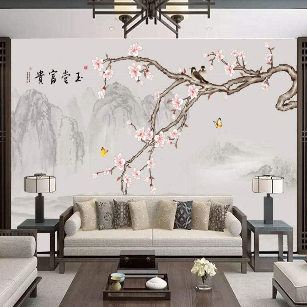 RTYUIHN 3D Wallpaper Mural Plum Blossom Atmosphere Simple Quantity limited B Cheap Home