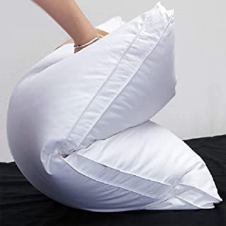 Luxury Goose Down Pillow for Sleeping,100%Breathable 1200TC Egyptian Cotton Cover Downproof,Comfortable & Plush Queen Guss...