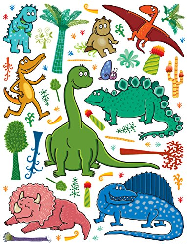 AG Design Sticker Mural Dinosaure k1048 Sticker Mural, polymère Film Multicolore 65 x 0,02 x 85 cm
