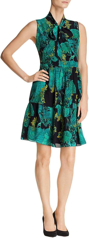Kobi Halperin Womens Rosie Silk Floral Print Midi Dress