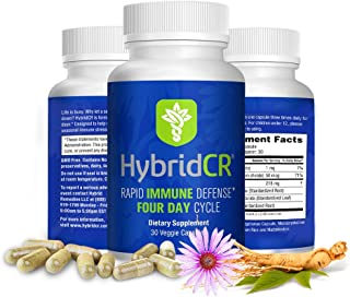HybridCR Rapid Immune Defense by Hybrid Remedies - Pharmacist Formulated Natural Herbal Formula for Immune Support - Glute...