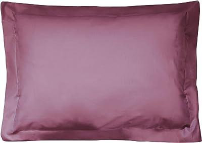 Funda de almohada algodón, 70 x 50 cm, color morado: Amazon.es: Hogar
