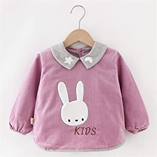 0-3 Years Old Children's Long-sleeved Bib Waterproof Anti-fouling Bib Cotton Baby Anti-dressing For Infant Toddler (Color...