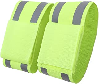 A-SAFETY Reflective Running Gear Unisex Reflectors Wristbands Runners, Cycling, Walking   Set of 4 Reflective Ankle Bands, Armbands,   Reflector Tape Providing High Visibility Safety Apparel