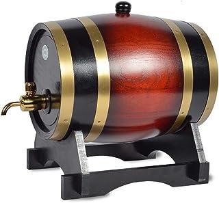 Tonneau de Vin en chêne Fût de chêne Seau de Vieillissement en Chêne, Fût de Whisky de 5 Litres Garni de Papier D'aluminiu...