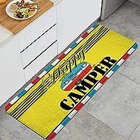 GUVICINIR キッチンマット 洗える 45*120cm ハッピーキャンパーキャンプ漫画パターン キッチンマット 滑り止め 柔らかく おしゃれ 台所 マット お手入れ簡単