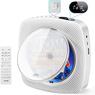 Best Portable CD Player, Comter Wall Mountable CD Music Player with Built-in HiFi Speakers, Home Audio Boombox with FM Radio,USB MP3 Music Player, 3.5mm Headphone Jack AUX, Remote Control Input Output Review