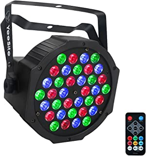 LED Par Lights, YeeSite 36W 36LEDs Stage Lighting Sound Activated Auto Play by Remote and DMX Control Par Lighting for Wed...
