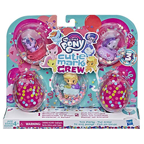 My Little Pony - MLP Cutie Mark Crew Confeti Surprise Pack de 5 goteros Festif, E3897ES0,
