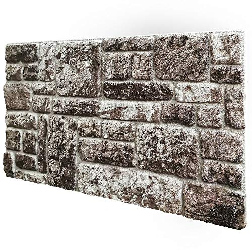 Pannelli Piedra sintética reconstruida en poliestireno resinado Medidas 100 cm x 50 cm Grosor 2 cm aislantes térmicos para interiores y exteriores Modelo Santorini
