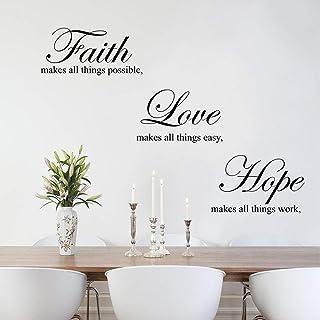 ملصقات جدارية ديكورية من ملصقات مكتوب عليها اقتباسات الإيمان الحب الأمل الملهمة لغرفة النوم وغرفة المعيشة وديكور الحائط
