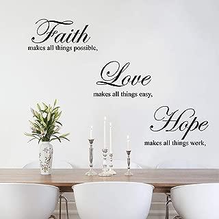 faith hope love wall stickers