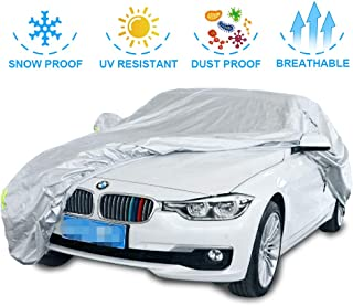 SINYSO Upgraded 7 Layer Super Soft Car Cover with Cotton, Fits 174