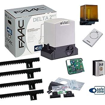 FAAC 740 Kit Delta 2 puerta corredera capacidad 500 kg 230 V con 4 m de cremallera: Amazon.es: Bricolaje y herramientas