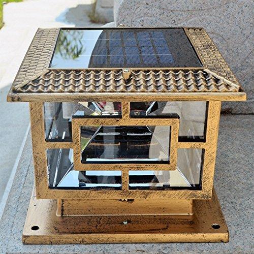 HLDJ wasserdichte Pathway Solar-LED-Straßenlaterne Zaun Dachterrasse Beleuchtung, LED Integrierte Rustic/Lodge Bronze Eigenschaft for LEDAmbient Licht Aussenleuchten Wandleuchte (Size : 30CM)