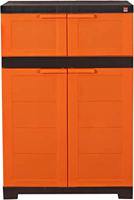 Cello Novelty Dual Shoe Rack - Orange & Brown