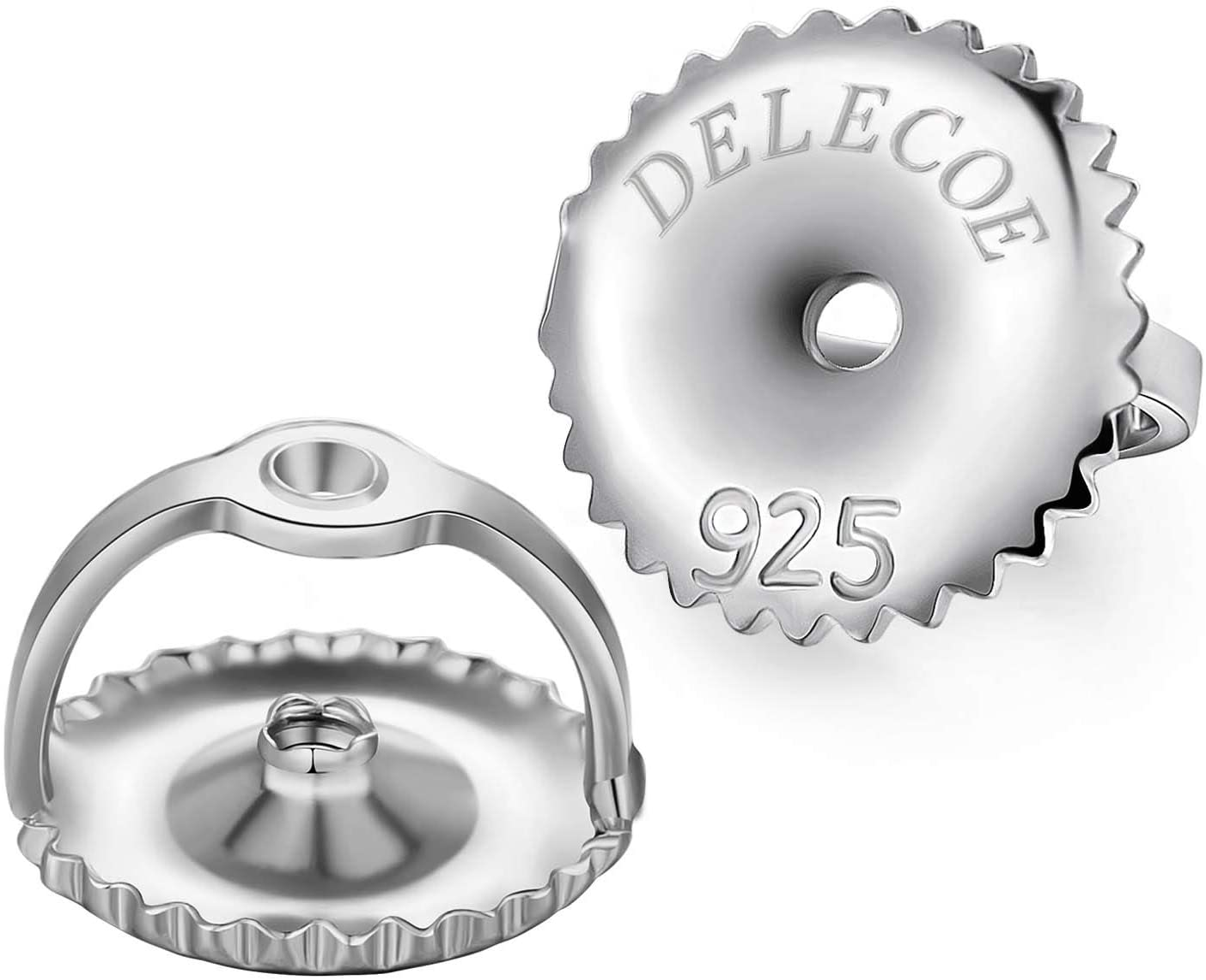 3. DELECOE Sterling Silver Earring Backs