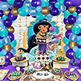 Aladdin Party Decorations Jasmine Aladdin Balloon Garland Hanging Garland for Princess Birthday Arabian Nights Party Supplies 92 Pack