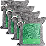 Bamboo Charcoal Bags - Odor Absorber Made of 100% Bamboo and Linen with Dehumidifier for Moisture Control that is Safe for Air Purifier & Deodorizers and comes in 4 200g Pouches Per Pack