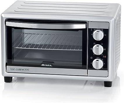 Ariete 985 Bon Cuisine 300 - Horno eléctrico ventilado (50 x 36,5 x 33 cm, 1500 W, 6 posiciones de cocción, temporizador de 60 pulgadas), color ...