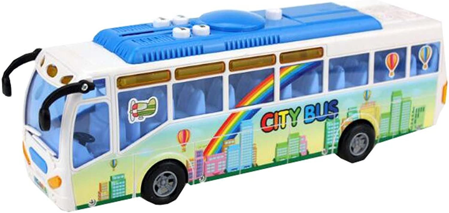 (Toy) Car Bus Police School Car with Lights & Sounds For Toddlers Kids Gift,A12