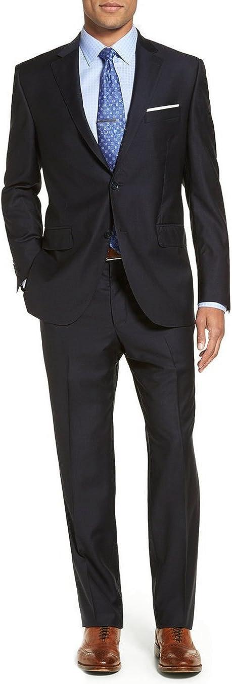 Luciano Natazzi Men's Two Button 2 Piece Modern Fit Suit Set Faint Tone On Tone